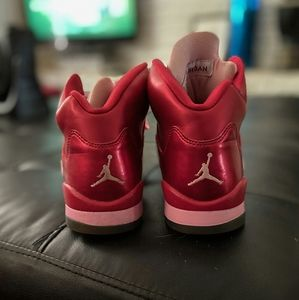 Pink& red Jordans